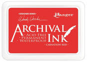 Carnation Red Designer Series Archival Ink Pad - Ranger