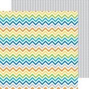 Shades Of Chevrons Paper - Hip Hip Hooray - Doodlebug