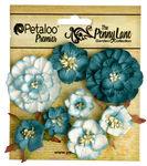 Teal Mixed Blossoms - The Penny Lane - Petaloo