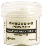 Weathered White Antiquities Embossing Powder - Ranger