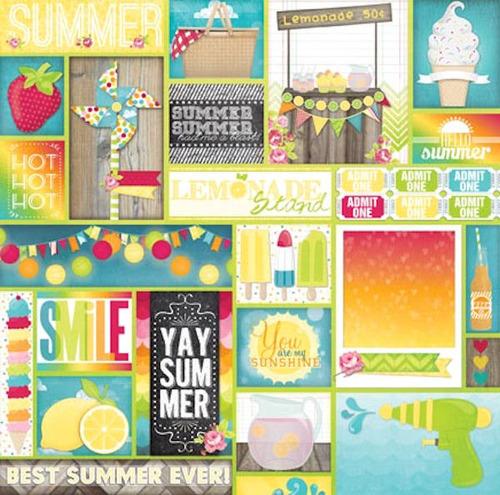 Block Party Paper - Lemonade Stand - Bo Bunny
