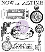 Now Is The Time Clear Stamp - Time Traveler - Prima