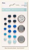 Blue Decorative Brads - My Minds Eye