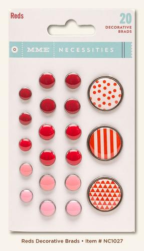 Red Decorative Brads - Necessities - My Minds Eye