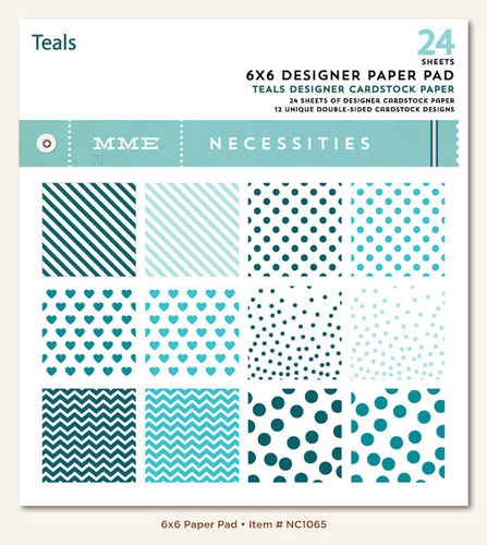 Teal 6 x 6 Paper Pad - Necessities - My Minds Eye