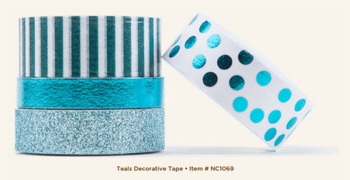 Teal Decorative Tape - Necessities - My Minds Eye