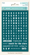Teal Tiny Word & Alphas - Necessities - My Minds Eye