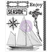 Sailboat #1 Clear Stamp - Seashore - Prima