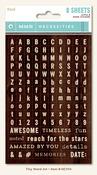 Woods Tiny Word & Alphas - Necessities - My Minds Eye