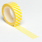 Yellow Diagonal Stripe Trendy Washi Tape - Queen & Co