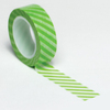 Lime Green Diagonal Stripe Trendy Washi Tape - Queen & Co