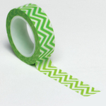 Lime Green Chevron Trendy Washi Tape - Queen & Co