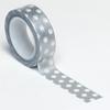 Silver Polka Dot Trendy Washi Tape - Queen & Co
