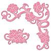 Hibiscus Corner Die D Lites - Shapeabilities - Spellbinders
