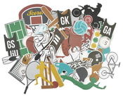 Equipment Die Cut Collectables - Game On - KaiserCraft