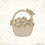 Rose Basket Laser Cut Chipboard - Blue Fern Studios