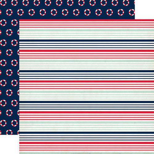 Nautical Stripe Paper - Ahoy There - Carta Bella