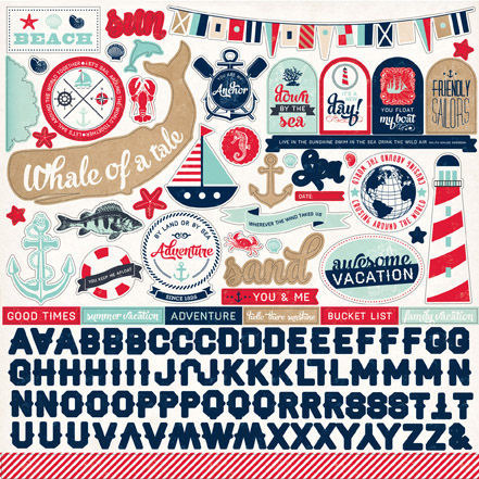 Ahoy There Sticker Sheet - Carta Bella