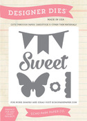 Sweet, Butterfly, Banner Die Set - Echo Park