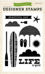 Beach Day Stamp Set - Walking On Sunshine - Echo Park