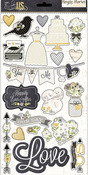 The Story Of Us Chipboard Stickers - Simple Stories