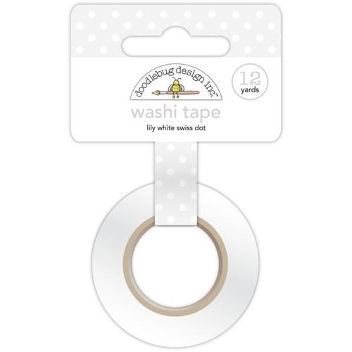 Lily White Swiss Dot Washi Tape - Doodlebug