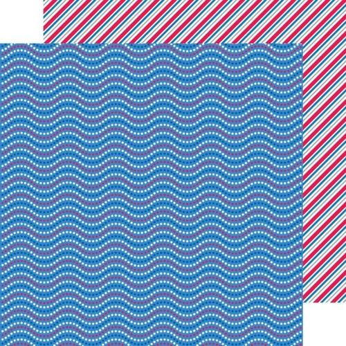 Red, White & Blue Paper - Patriotic Picnic - Doodlebug