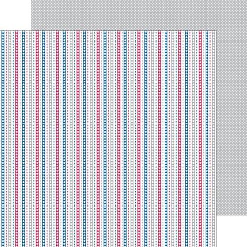 Starry Stripes Paper - Patriotic Picnic - Doodlebug