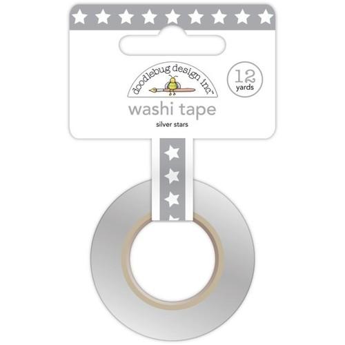 Silver Stars Washi Tape - Doodlebug