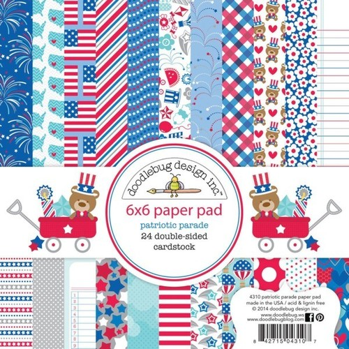 Patriotic Parade 6 x 6 Paper Pad - Doodlebug