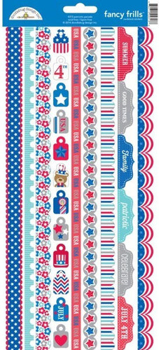 Patriotic Parade Fancy Frills Stickers - Doodlebug