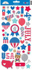 Patriotic Parade Icon Stickers - Doodlebug