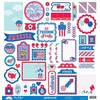 Patriotic Parade This & That Sticker Sheet - Doodlebug