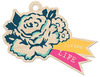Loving Life Wood Tag - Inked Rose - We R Memory Keepers