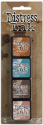 Kit 6 Mini Distress Ink Pads - Tim Holtz