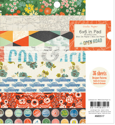 The Open Road 6 x 6 Paper Pad - Crate Paper