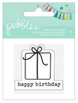 Happy Birthday Present Clear Stamp - Birthday Wishes - Pebbles