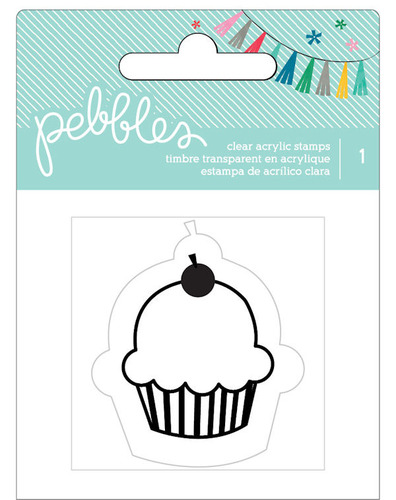 Cupcake Clear Stamp - Birthday Wishes - Pebbles