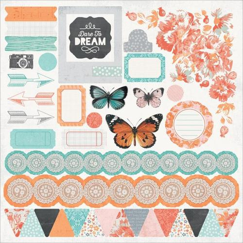 Dream Big 12 x 12 Sticker Sheet - KaiserCraft