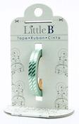 Silver Diagonal Stripes Decorative Foil Paper Tape - Little B