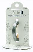 Silver Grosgrain Decorative Foil Paper Tape - Little B