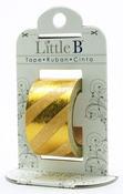 Gold Diagonal Stripes Foil Decorative Paper Tape - Little B