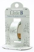 Silver Crackle Foil Decorative Foil Paper Tape - Little B