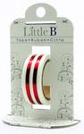 Red Mono Stripe Foil Decorative Paper Tape - Little B