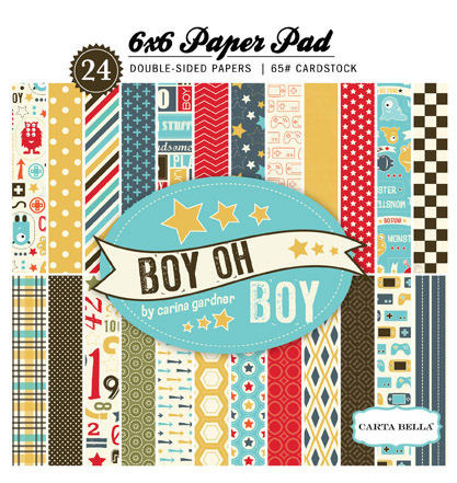Boy Oh Boy 6 x 6 Paper Pad - Carta Bella