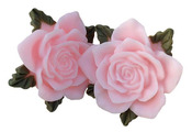 Pink Resin Roses - Junque & Gems - Marion Smith Designs