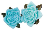 Blue Resin Roses - Junque & Gems - Marion Smith Designs