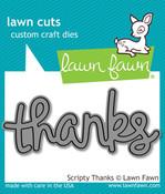 Scripty Thanks Lawn Cut Die - Lawn Fawn