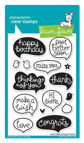 Chit Chat Clear Stamps - Lawn Fawn