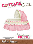 Ruffled Bassinet Metal Die - Cottage Cutz